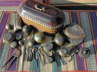 self expression A collection of betel nut crackers and other vessels of a private collector in Mangalore.  DH photo Kishor Kumar Bolar