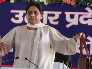 Uttar Pradesh Chief Minister and BSP supremo Mayawati during a meeting at party headquarters in Lucknow on Wednesday. PTI