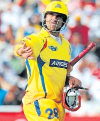 Matt the bat: Chennai's Matthew Hayden believes all three formats of the game can co-exist. File photo