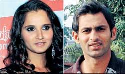 Sania Mirza and Shoaib Malik. AFP