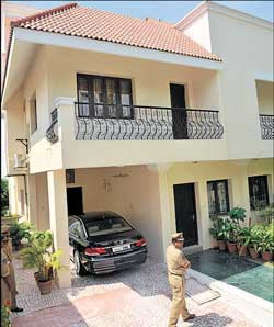 Sania's residence in Hyderabad which is a beehive of activity these days. AFP