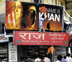 provoked  Shiv Sena activists destroying a poster of 'My Name is Khan'.