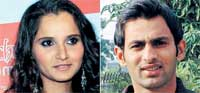 Sania Mirza and Shoaib Malik will get married on April 15.