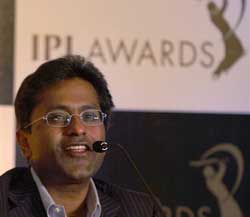 Indian Premier League commissioner Lalit Modi addresses a press conference anouncing 'IPL Awards' in Mumbai on wednesday. PTI