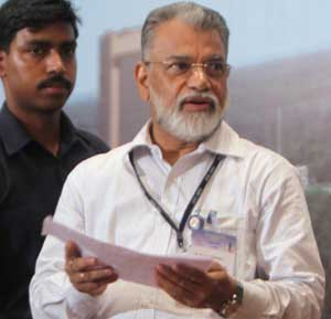 ISRO chairman K Radhakrishnan addresses a press conference after the GSLVD3 launch from the Satish Dhawan Space Centre in Sriharikota on Thursday. PTI