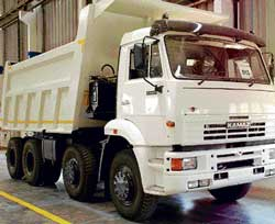 A Kamaz Vectra truck at its Hosur plant