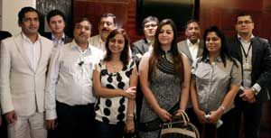 The Kochi IPL team owners pose for a photograph after the press conference for the  announcement of the new teams for the IPL Season 4, in Chennai on March 21, 2010. PTI