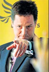The 'IT' man: Liberal Democrat party leader Nick Clegg. AP