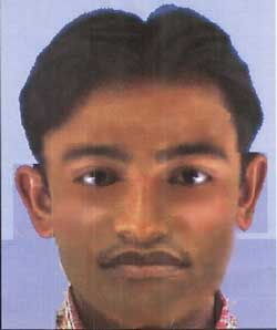 Police on Wednesday released the sketch of a person suspected to be involved in the twin blasts outside the M Chinnaswamy Stadium in Bangalore. PTI