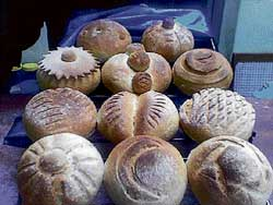 mouth-watering Variety of breads.