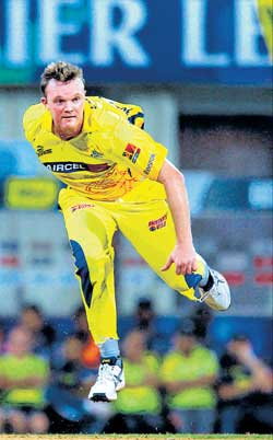Doug Bollingers' form will be the key to Chennai Super Kings' success in the final. AP