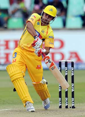 In prime touch: Chennai Super Kings' Suresh Raina, who has been in fine touch in IPL III, will have to shoulder a lot of responsibility in the World T20. PTI