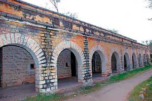 HISTORIC PRISON: A part of the Bellary cantonment's barracks was converted into a military jail, called the Alipore jail, by the end of the 19th century. File photo