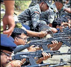 Policemen get training in Naxal-hit areas. File photo