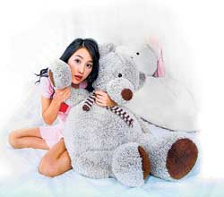 cuddly Most girls associate stuffed toys with comfort.