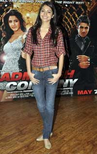 Bollywood actress Anushka Sharma at a press conference to promote the Hindi film ''Badmaash Company''. AFP