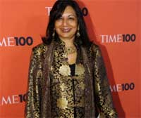 Kiran Mazumdar-Shaw attends Time's 100 most influential people in the world gala at Lincoln Center on May 4, 2010. AFP
