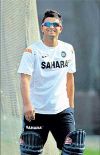 Full of hope: The Zimbabwe tour is a good chance for Suresh Raina and his wards to impress the bigwigs.