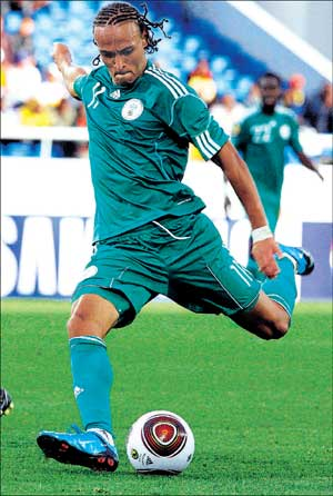 Gearing up: Nigerian winger Peter Odemwingie will be the key to his team's World Cup plans.