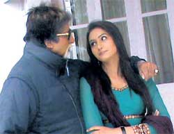 Cmfortable: Ragini with Amitabh Bachchan.