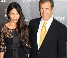 Mel Gibson and Oksana Grigorieva . AP File Photo