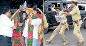 Muhurtham inside, chaos outside | Deccan Herald