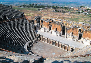 Battleground for gladiators: This theatre was constructed in 2nd century BC by Emperor Hadrian. photo by Tanushree Podder