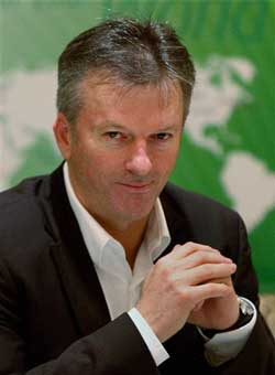 Former Australian cricketer Steve Waugh pauses during a press conference in New Delhi on Wednesday. PTI