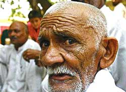 An elder from Balla village where Sunita and Jassa were killed. photo: Reuters