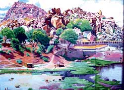 STROKES OF BRILLIANCE Robert Geesink's depiction of Hampi.