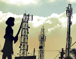 Mobile towers on Kammanahalli Main Road. DH Photo