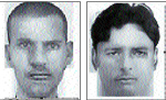 Sketches of two suspects in Kiran Kumar car robbery case.