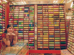 One of the Fancy stores in Mysore which displays colourful bangles. DH PHOTO