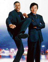 hilarious Chris Tucker and Jackie Chan in Rush Hour 2.