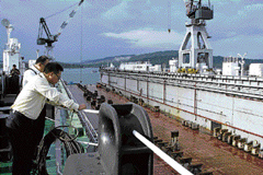 The Floating Dock Navy-1 at Port Blair. Courtesy: Defence Ministry