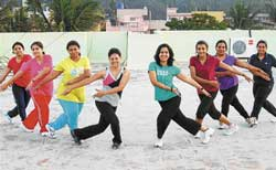 SWING IT! Dancercise has become a huge hit with women as they believe it is more than just another fitness routine.