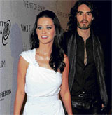 Love birds:  Katy Perry and Russell Brand.