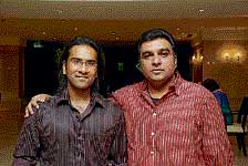 Ajith Paul Antony (left) with a friend.