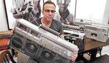 Musiclore : Portable stereos were once  symbols  of rebellion and  chutzpah. Photo Chang W Lee/NYT