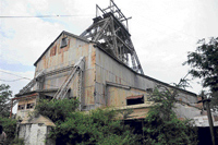 awaiting new lease of life: The century-old mines at the Kolar Gold Fields that have remained closed for the last ten years. dh Photo P Samsom Victor