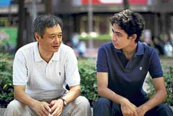 Talented duo: Ang Lee and Suraj Sharma.