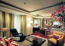 The Living Room of the suite at ITC Maurya where US President Barack Obama will stay during his visit to Delhi. PTI