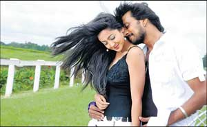 Aindrita Ray and Sudeep in Vira Parampare
