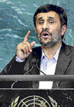 Ahmadinejad: Negotiations should be based on justice.