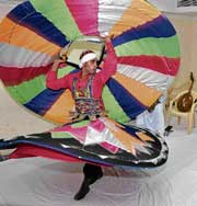 COLOURFUL Tannoura dancer from Egypt.