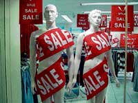 LURING The lucrative sale offers add to the shopping experience.