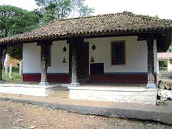 RURAL RETREAT : The model of a traditional home at Janapada Loka. Photo by the Aravind V S