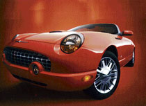 BEAUTY Ford Thunderbird, the Halle Berry-Bond speedster featured in 'Die Another Day'.