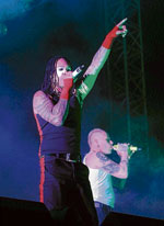 ELECTRIFYING Members of The Prodigy.