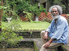 ROOTED TO ART Viswanadhan believes that matter is the message.